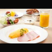 朝食バイキング洋食盛り付け例