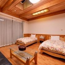 *洋室ツイン(別館)/清潔にしつらえられたベッドルームで安眠の夜をお過ごし下さい。