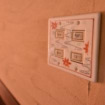 """*佐賀県の伝統工芸品のひとつ""""陶磁器""""でお部屋のスイッチカバーを華やかに。"""