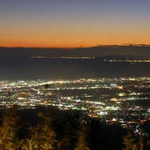 芦ノ湖スカイラインからみる夜景