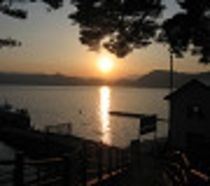 田沢湖夕焼け