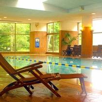 温水プール~大人用のプールと子供用プールの2種類をご用意。通年ご利用いただけます。