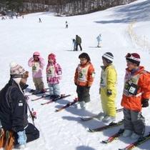 小さなお子様にもおすすめ。スキースクールもございます。