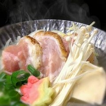 【温物】地鶏のラジウム温泉鍋