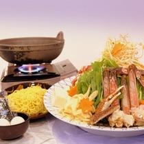 【お鍋チョイスプラン】ちゃんこ鍋の一例。丹後の海の幸をふんだんに使っております。