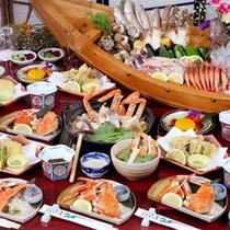 【かに鍋コース】かに鍋に使用する蟹は新鮮そのもの!だから刺しでもOK♪