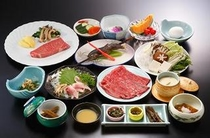 米沢牛贅沢コース すき焼き&イチボステーキ