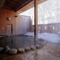 露天風呂冬2