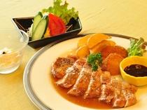 【夕食一例/ビジネスプラン】八幡平ポークのソテー