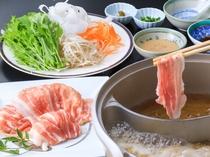 1泊2食付Bプラン土曜日/冨士桜ポークの豚しゃぶ膳(イメージ)