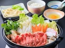 1泊2食付Bプラン水曜日/牛すき焼き&吉田うどん膳(イメージ)