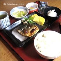 朝食 和鯖セット