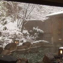 庭園露天風呂(岩)冬