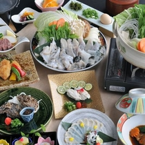 期間限定(2015年10月-12月) 河豚料理の特別会席。