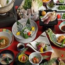 冬の河豚料理。(一例。)