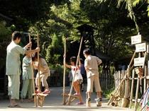 「遊具」昔懐かしい竹うま・フラフープ・輪投げなどで楽しむ事が出来ます。