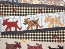 キルト 犬の散歩