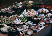 イロリ松茸料理