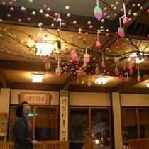 イベント/小正月の行事「だんご木飾り」