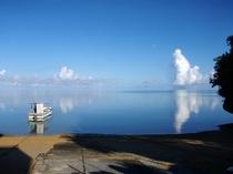 マリンメイトビーチから見える海