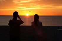 ビレッジから見た夕日
