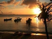 マリンメイトビーチから見える夕日