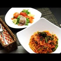 【洋Aコース】 日替わりパスタのお食事。別途1,500円でお付けできます。
