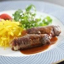 【夕食】和牛ロールステーキ