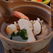 【夕食】松茸土瓶蒸し