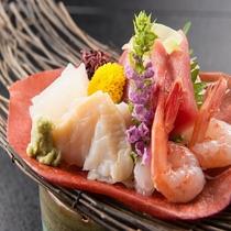日本海直送!マグロ、真鯛、海老、活〆はまち、妻一式のお造り★『夢の宴』
