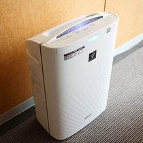加湿機能付き空気清浄器を全室完備♪