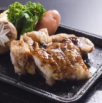 阿波尾鶏と野菜のグリル