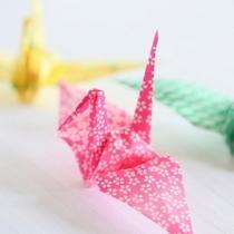 手作りの折鶴