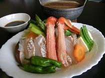 ずわい蟹と真鯛のしゃぶしゃぶ