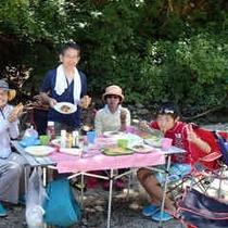 夏の遠足カヌーツアー ランチ