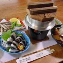 九十九里飯岡港水揚げイワシ料理(例)