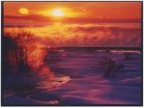 冬:けあらしの朝