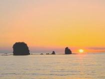 塔ノ島夕陽