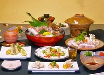 クエ一人鍋鍋&地魚姿造りプラン
