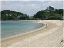 徒歩1分自然の砂浜