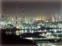 水島工業地帯の夜景