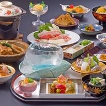 割烹楽水にて「黒豚しゃぶしゃぶと伝統の薩摩会席」(写真は一例です)