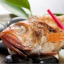 日本海、高級魚咽グロの塩焼き