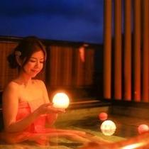 最上階の天空貸切露天風呂【星のおさんぽ】ジェリーフィッシュVer
