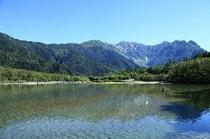 初夏の上高地大正池