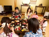家族、親戚全員で楽しいひと時を・・
