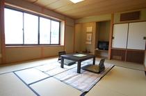 にしたにや海華の標準的なお部屋 和室10畳(トイレ・洗面付き)の一例