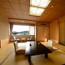 別館北の丸和室(10畳の一例) 景観は山側と庭側の2種類となります