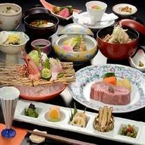 山形牛ヒレステーキ御膳(イメージ) 季節によって前菜などが変わります