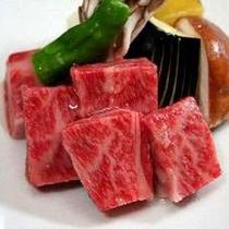 米沢牛陶板焼き例(2人前)